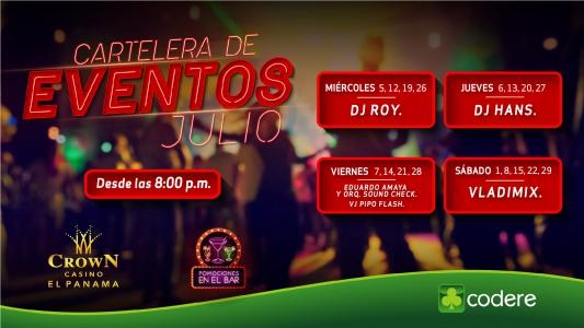 CARTELERA DE EVENTOS CrowN JULIO 2017, CrowN_PANTALLA_EL PANAMA-01