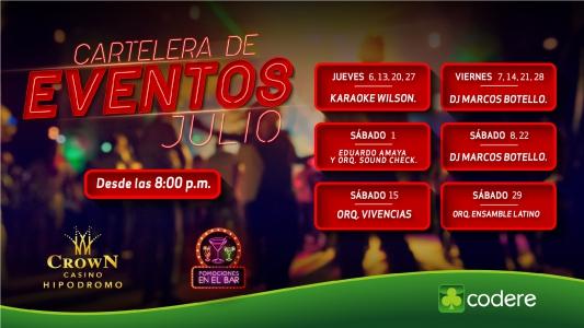 CARTELERA DE EVENTOS CrowN JULIO 2017, CrowN_PANTALLA_HIPODROMO-01