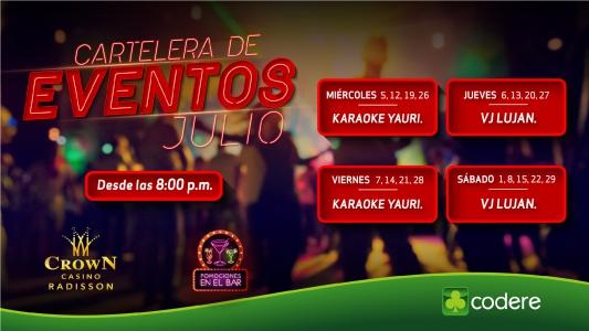 CARTELERA DE EVENTOS CrowN JULIO 2017, CrowN_PANTALLA_RADISSON-01